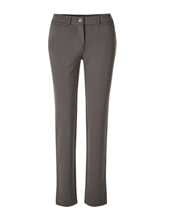 Taupe Comfort Stretch Slim Pant, Taupe, hi-res