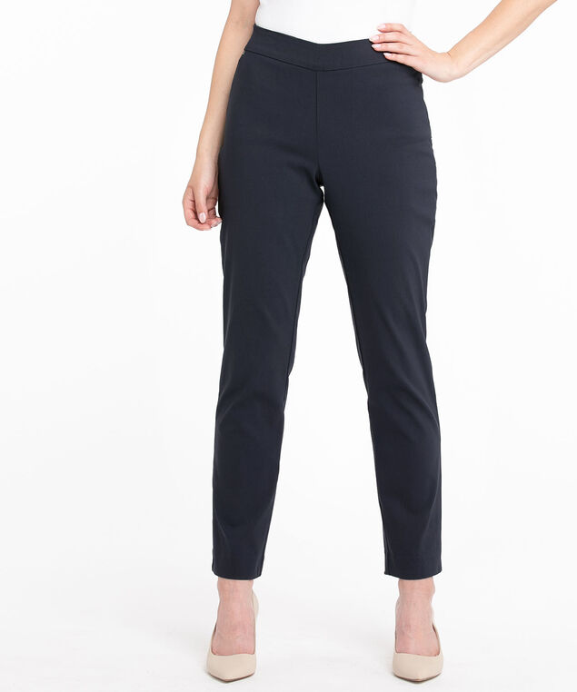 Low Impact Butt Lift Slim Pant, Navy