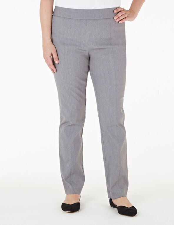 Grey Pull On Slim Pant, Grey, hi-res