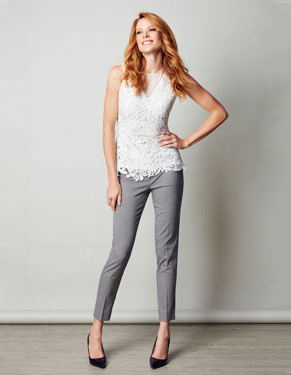 Houndstooth Every Body Ankle Pant, Houndstooth, hi-res
