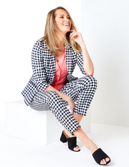Gingham Ankle Pant Look, , hi-res