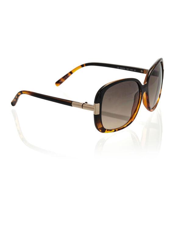 Large Tort Sunglasses, Brown, hi-res