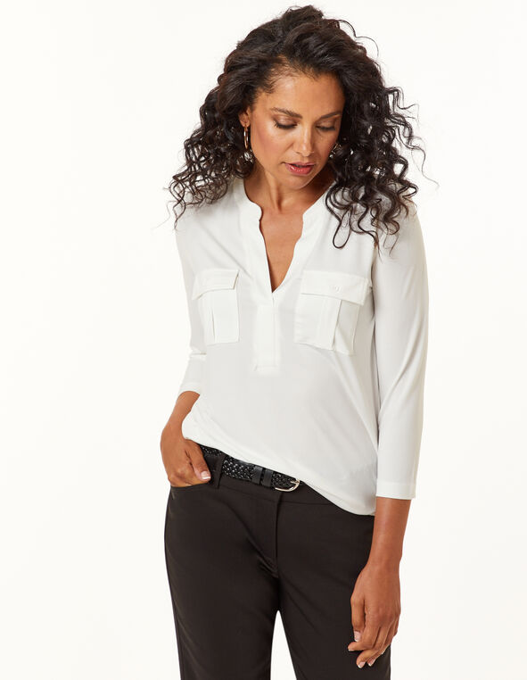 Ivory Utility Top, Ivory, hi-res
