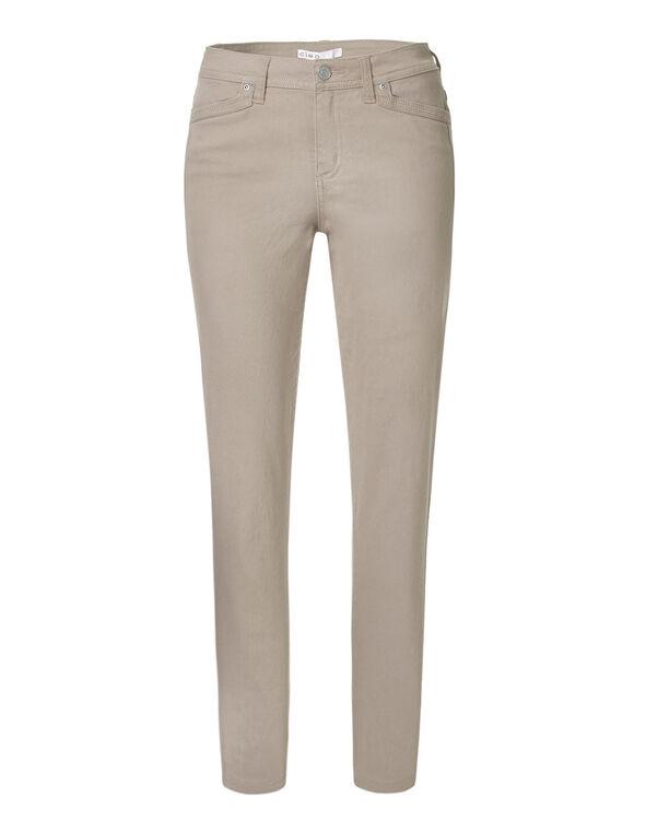 Stone Cotton Slim Leg Jean, Stone, hi-res