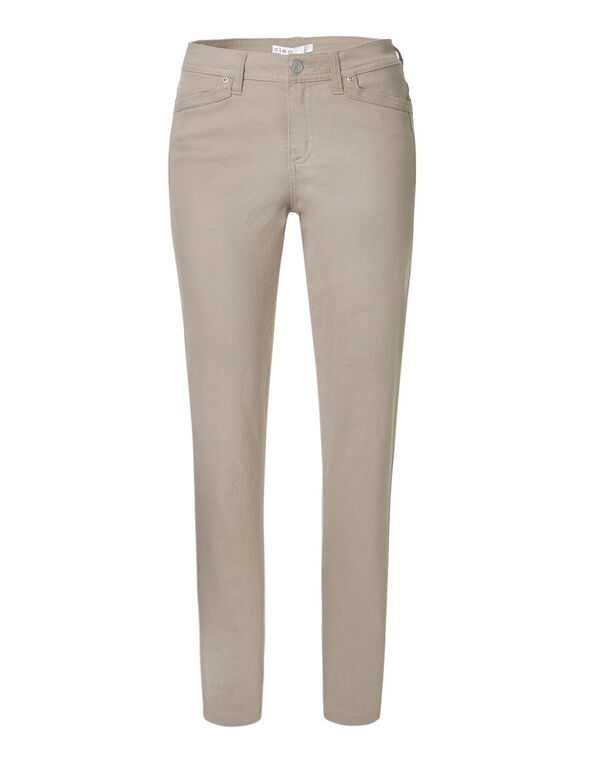 Stone Cotton Slim Leg Jean, Stone, hi-res