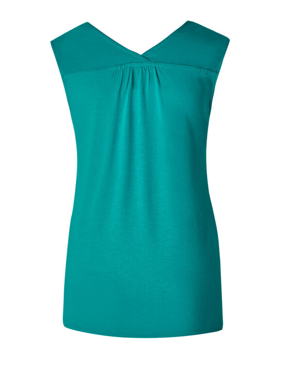 Turquoise Sleeveless Tee, Turquoise, hi-res