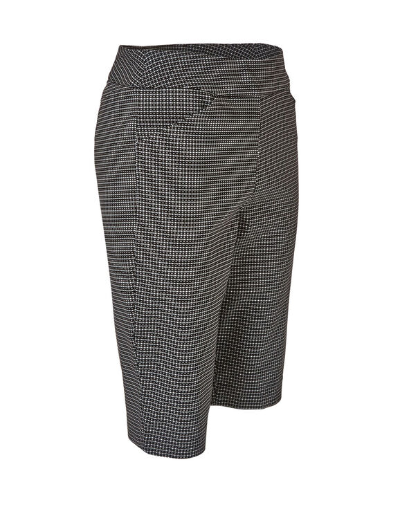 Black Patterned Pull On Short, Black, hi-res