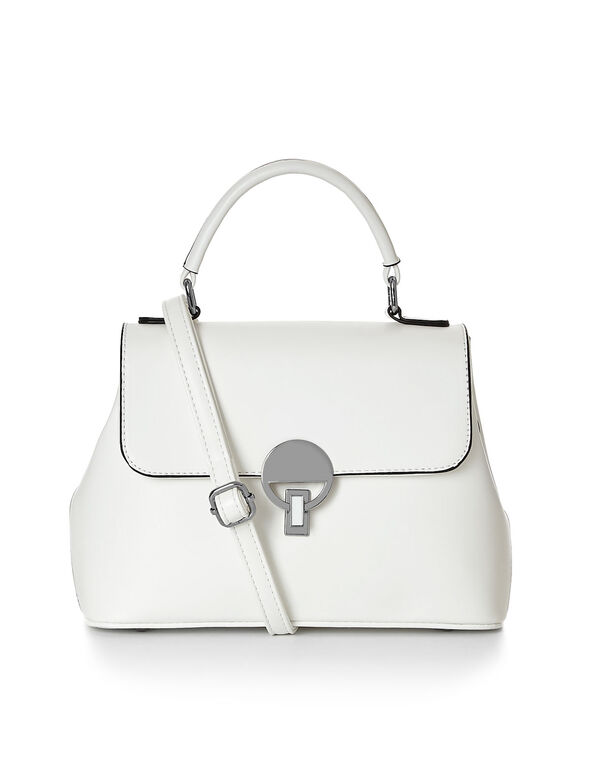 Small White Crossbody Lady Bag, White, hi-res