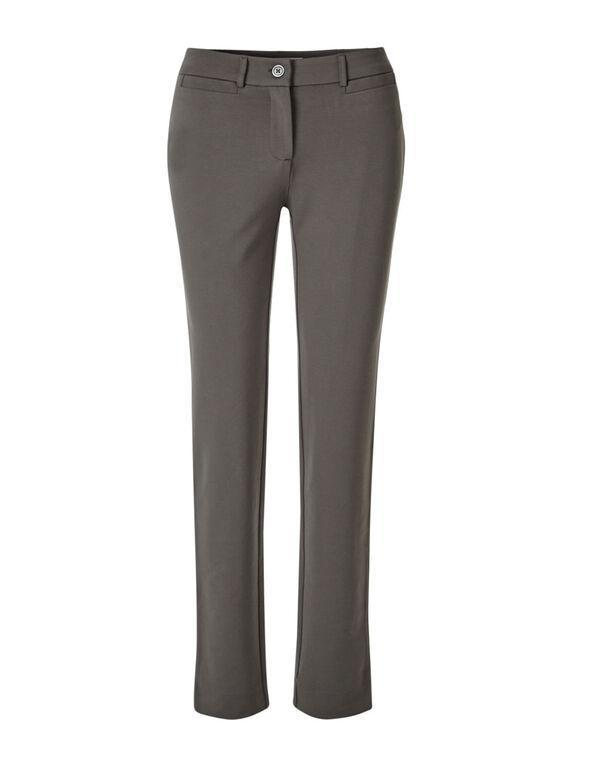 Taupe Long Comfort Stretch Slim Pant, Taupe, hi-res