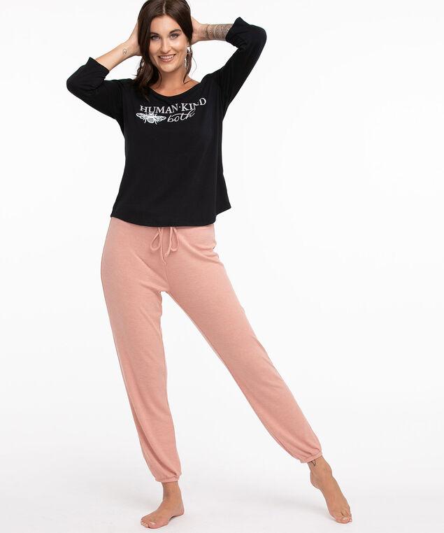 Super Soft Relaxed Pyjama Jogger, Soft Pink