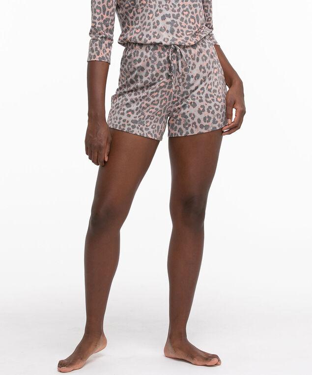 Super Soft Pyjama Short, Grey Animal