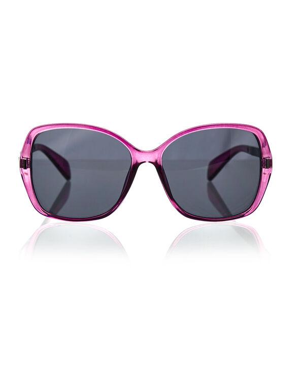 Large Frame Sangria Sunglasses, Purple, hi-res