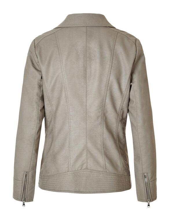 Latte Moto Faux Leather Jacket, Latte, hi-res