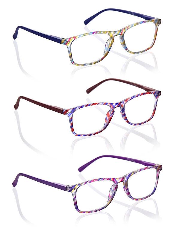 Multicolour Striped Frame 3-Pack Readers, Multi, hi-res
