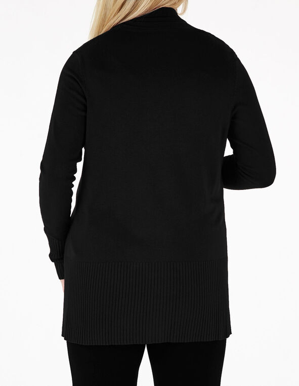 Black Essential Cardigan, Black, hi-res