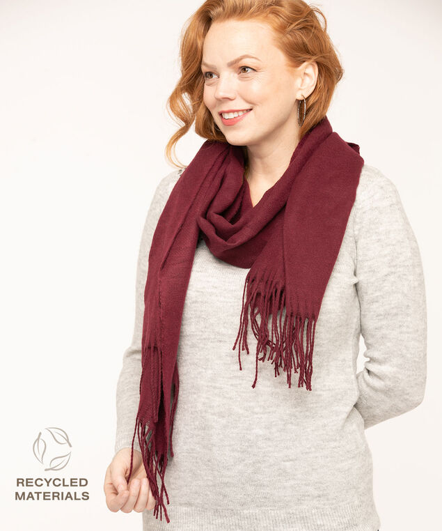 Recycled Soft Oblong Scarf, Mulberry, hi-res