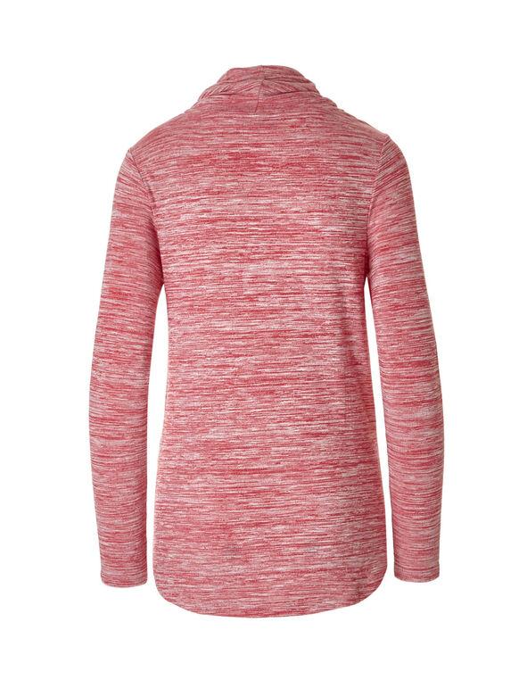 Pink Space Dye Cowl Top, Pink/Blush, hi-res