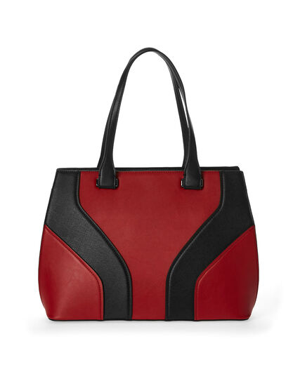 Red Colour Block Lady Bag, Red, hi-res