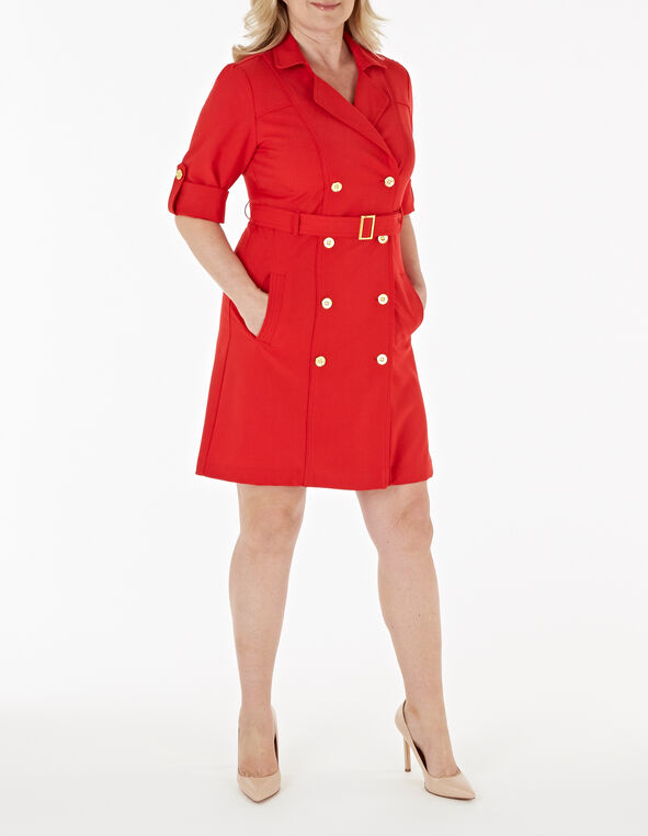 Red Sheath Dress, Red, hi-res