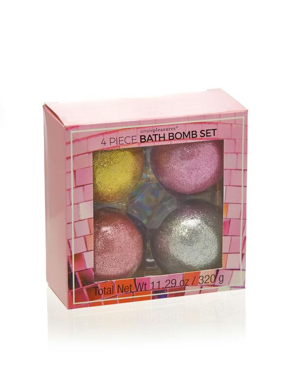 Multi Pack Glitter Bath Bombs, Pink, hi-res