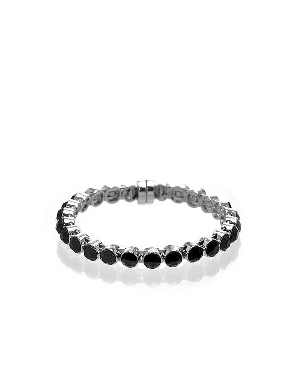 Silver & Black Magnetic Bracelet, Black/Silver, hi-res