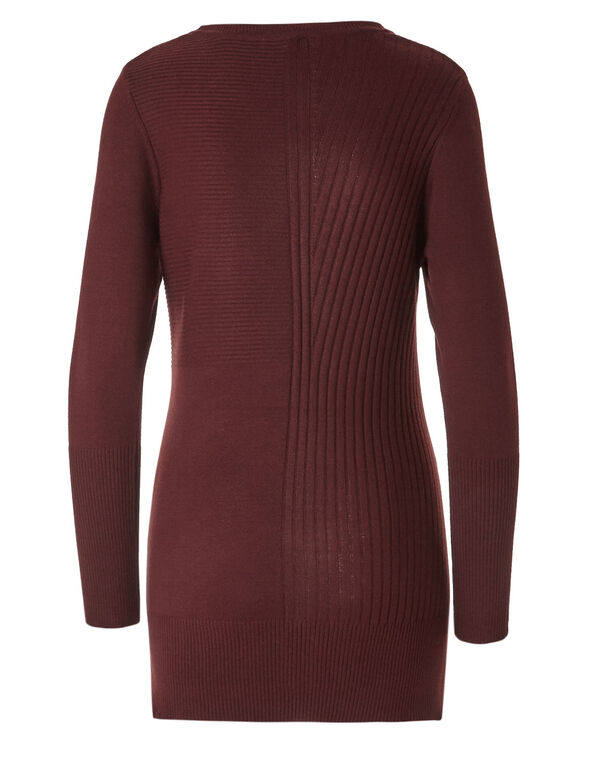 Brick Ribbed Tunic, Brick, hi-res