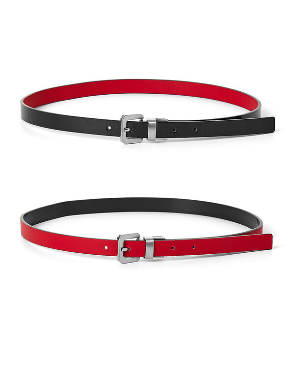 Black & Red Reversible Belt, Red/Black, hi-res