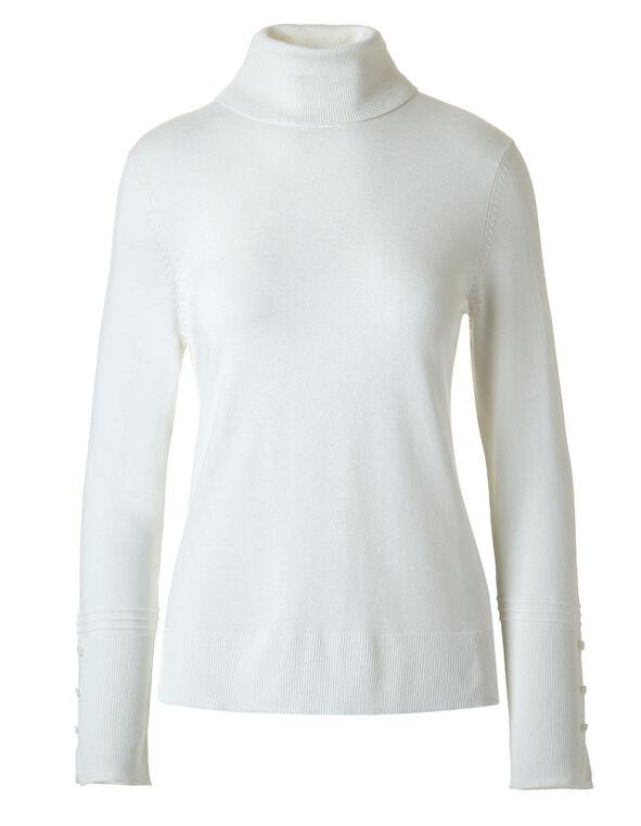 Ivory Turtleneck Sweater, Ivory, hi-res