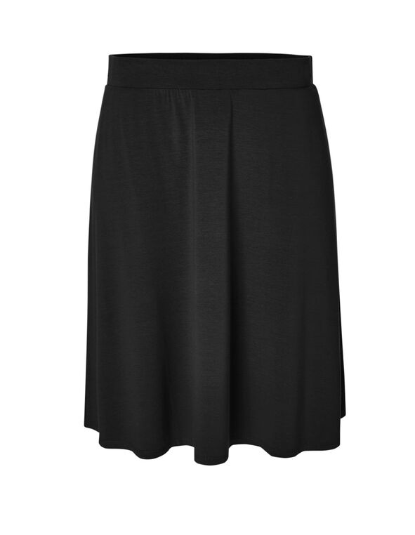 Black Pull On Skirt, Black, hi-res