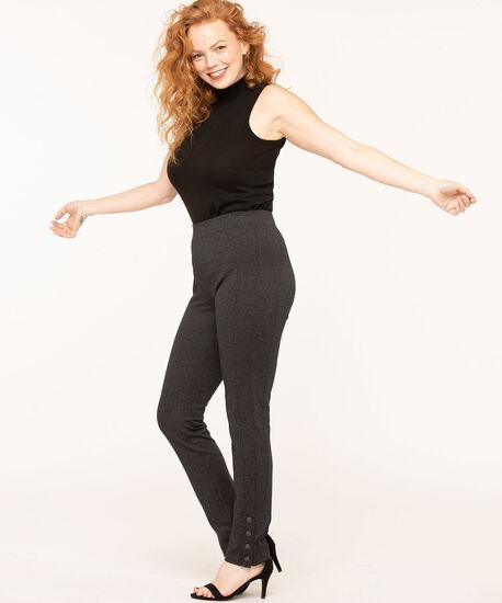 Charcoal Snap Bottom Legging, Charcoal, hi-res