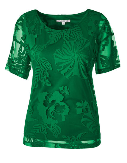 Kelly Green Burnout Top, Kelly Green, hi-res