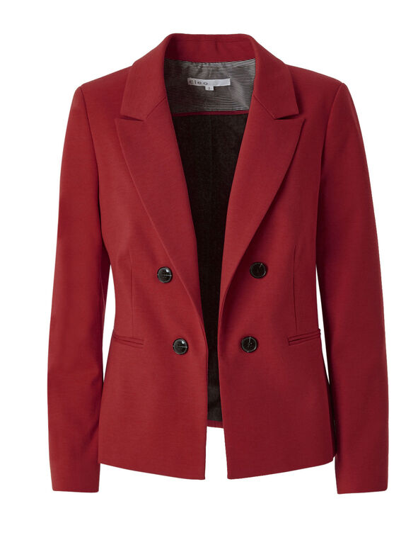 Red Open Styled Blazer, Red, hi-res