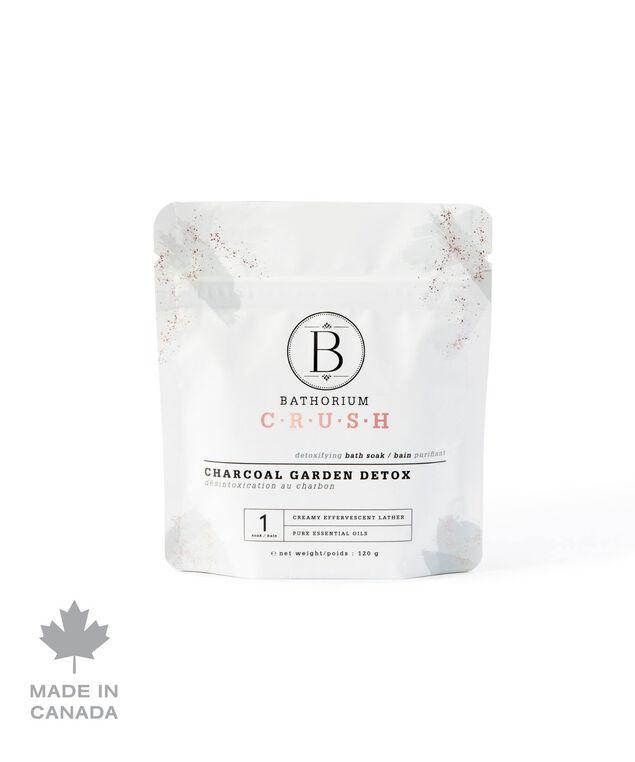 Charcoal Garden Detox Crush Bath Soak, White