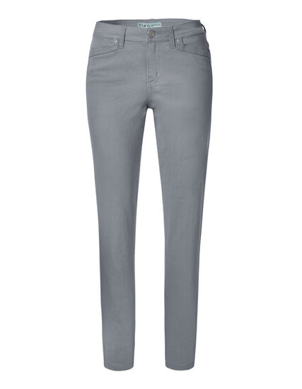 Grey Cotton Slim Leg Jean, Grey, hi-res