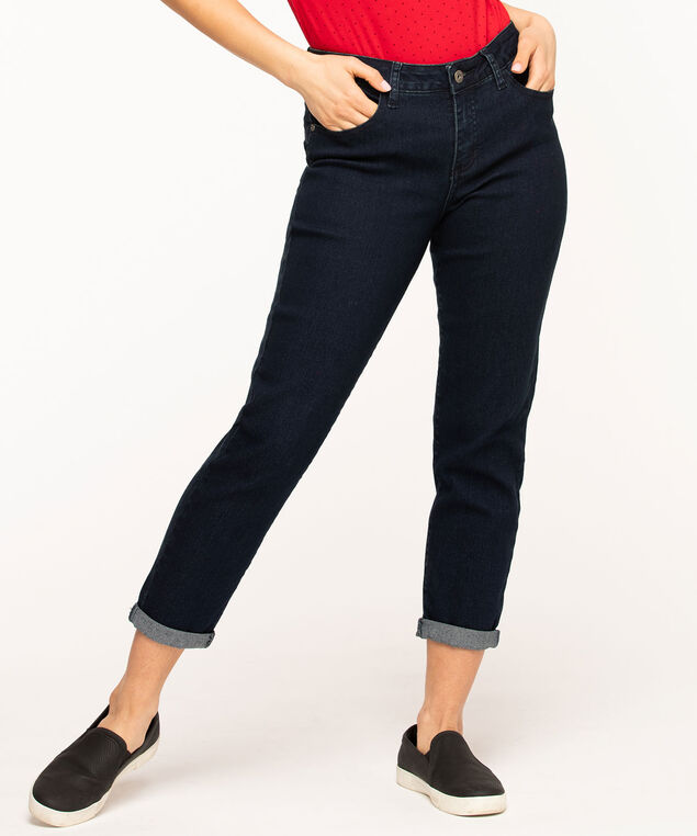 Butt Lift Slim Ankle Jean, Dark Wash