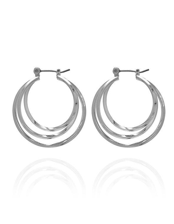 Silver Hoop Earring, Silver, hi-res