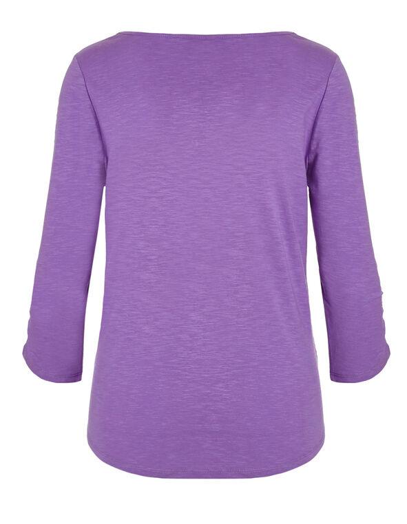 Purple Cotton Slub Tee, Purple, hi-res