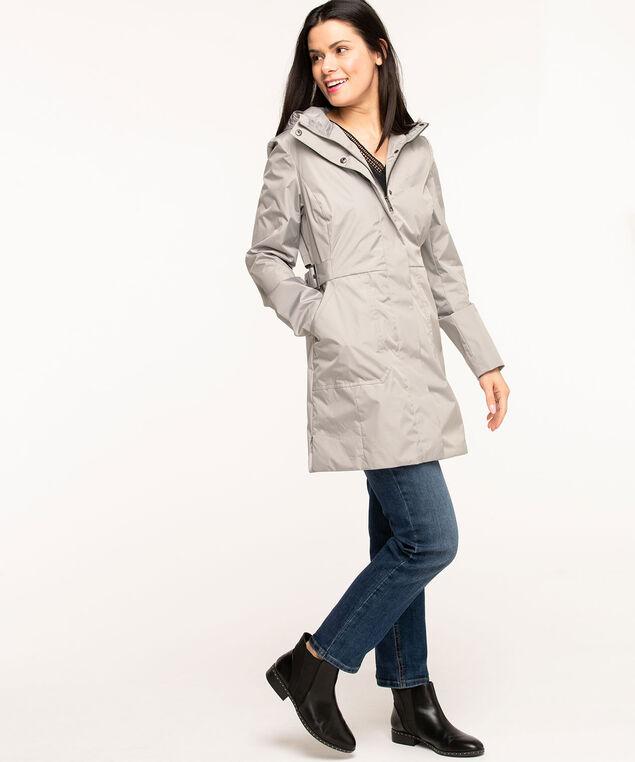 Hooded Windshell Coat, Grey