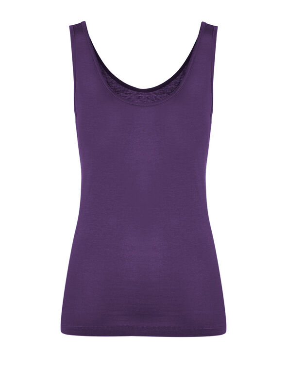 Dark Purple Universal Layering Tank, Dark Purple, hi-res