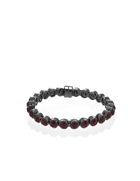 Hematite Magnetic Bracelet, Hematite/Red, hi-res