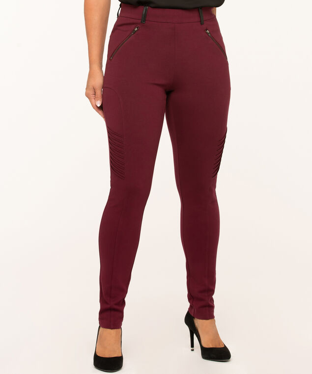 Mulberry Moto Style Legging, Wine, hi-res