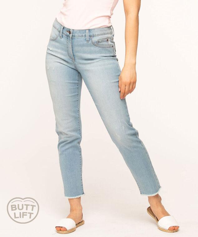 Light Wash Butt Lift Slim Ankle Jean, Light Wash