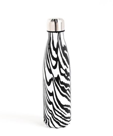 Insulated Water Bottle, Black\White Zebra, hi-res