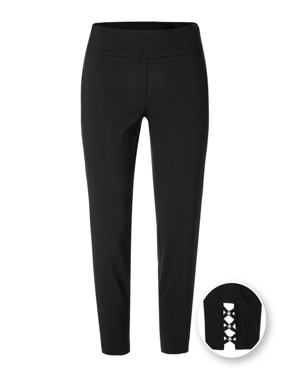 Black Ankle Pull On Pant, Black, hi-res