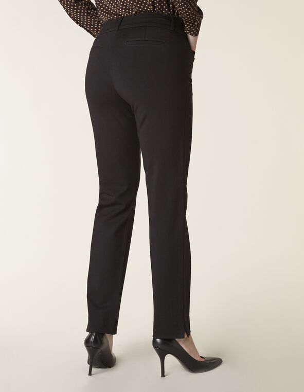 Black Long Knit Slim Leg Pant, Black, hi-res