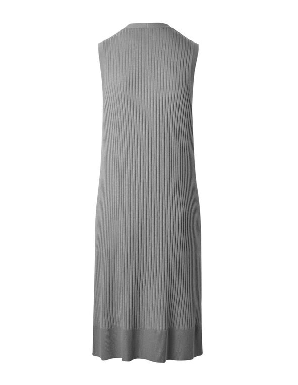 Light Grey Long Ribbed Vest, Light Grey, hi-res