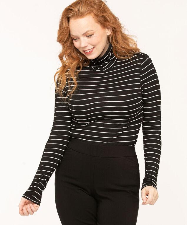 Layering Essential Turtleneck, Black/White Stripe, hi-res