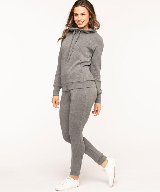 Zip Front Hoodie, Grey