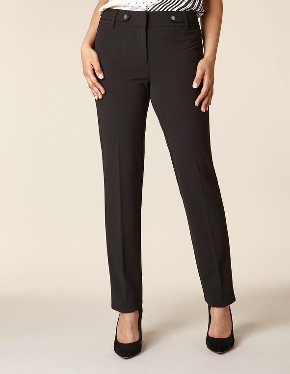 Black Straight Leg Pant, Black