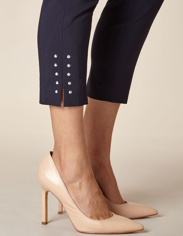 Navy Slim Ankle Pant, Navy, hi-res